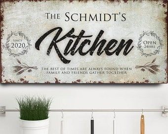 Farmhouse Kitchen Wall Decor Moms Kitchen Signs Kitchen Print Signs for Kitchen Personalized Kitchen Wall Art Large Kitchen Decor
