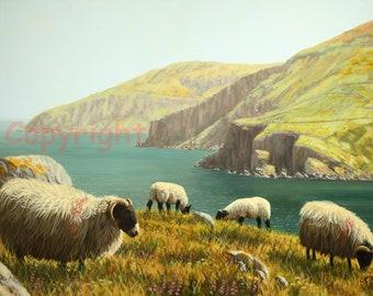 Fishermen Boat Ireland Print by artist Keith Glasgow