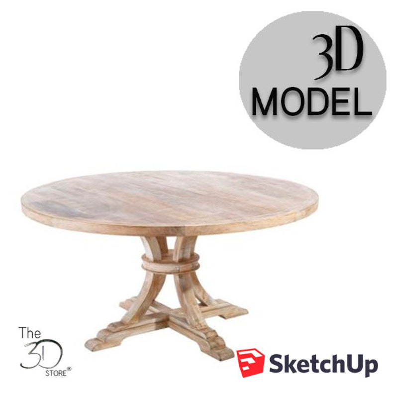 Galim Dining Table from Becara 3D Sketchup Model