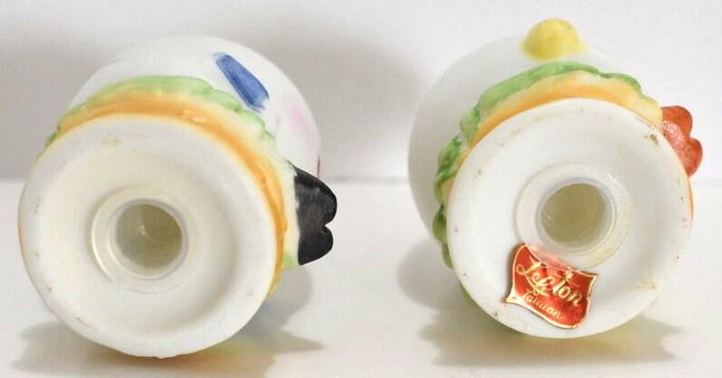 Lefton Anthropomorphic Figurines Eggs Salt Pepper Shaker Girl Boy