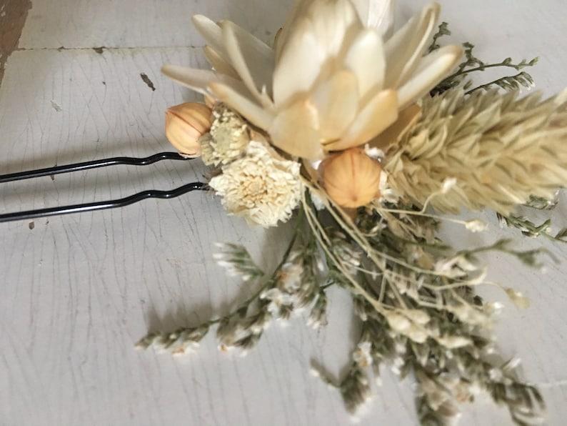 Dried flower Hair Pin