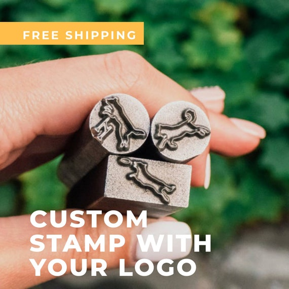 Metal Punch for Jewelry Branding Custom Logo Stamp for metalworking Hard Stamp Self-Inking Logo Punch Personalized Lead Stampin Mother/'s Day