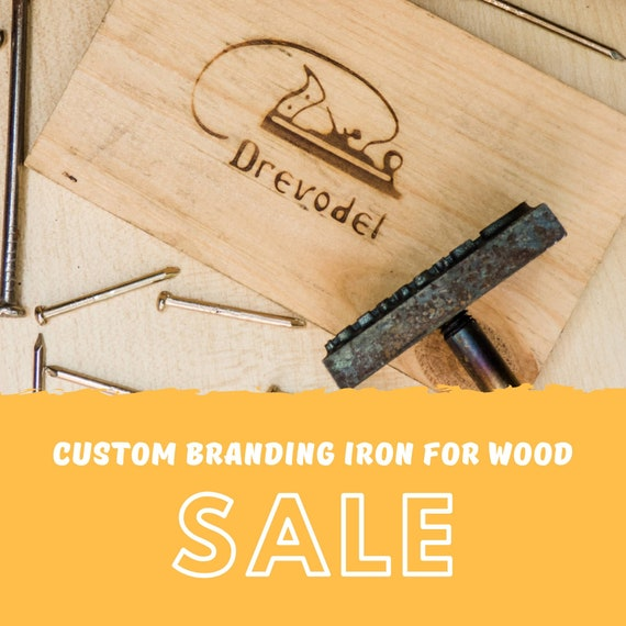 Custom Branding Iron For Wood Personalized Stamp Gift For Etsy