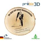 Baumscheibe mit Gravur 21-25 cm +Bild&Text-Geschenk/Hochzeit/Schild
