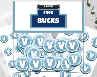 graphic relating to V Bucks Printable titled V dollars Etsy