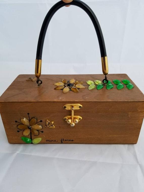 Enid Collins Wooden Box Purse.