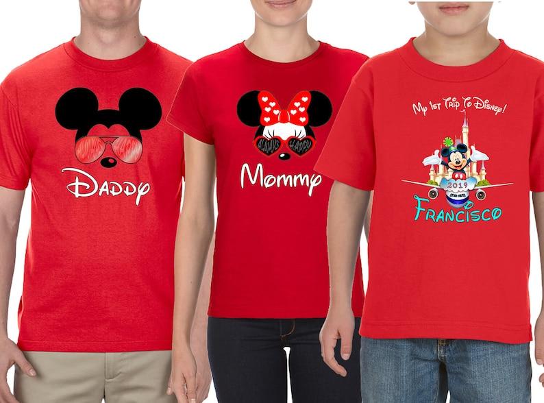 Custom names and text 1st Trip To Disney Disney Family Shirt Mickey Mouse Ears Disney World Trip
