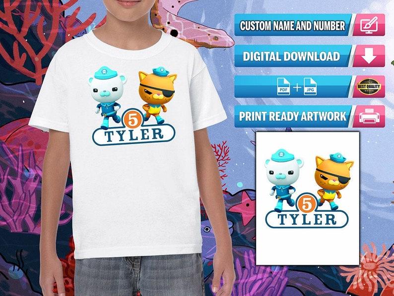 Ready to Print Digital File iron on transfer clip art for DIY Shirt Octonauts Birthday Shirt Octonauts Birthday Party Shirt
