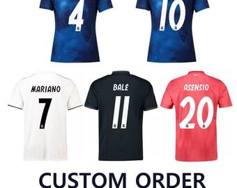 93dbf6537 2019 CUSTOM Real Madrid Customizable Soccer Jerseys for Men