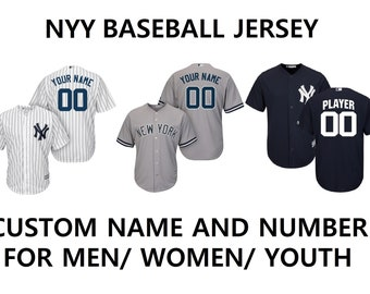 ca7c73c6 2019 CUSTOM YANKEES NYY Customizable Baseball Jerseys for Men Women Youth