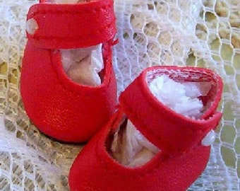 """7 1//2/"""" Ginny DOLL Shoes 25mm RED Girl Dressy Shoes fit Kish Riley"""