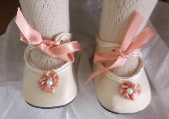 Debs WHITE Toddler-Baby Doll Shoes For Lee Middleton Toddler