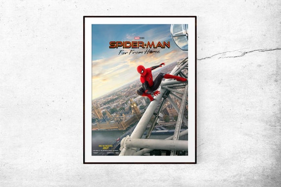 Spiderman Far From Home Movie Posters Print Wall Art A4 A3 A2 Maxi Marvel
