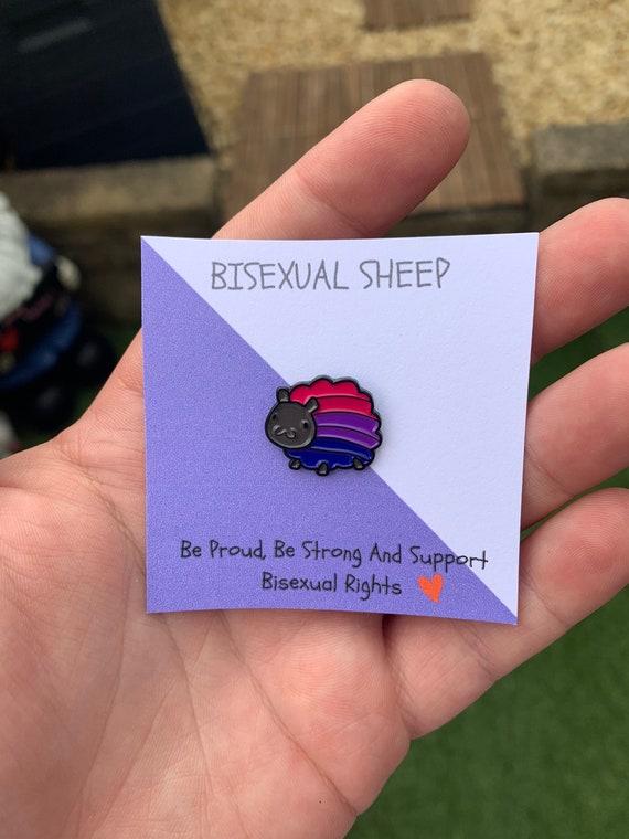 Bisexual Sheep Enamel Pin