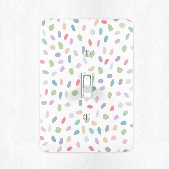 Pastel Confetti Light Switch Cover Pastel Switch Plate Cover Etsy