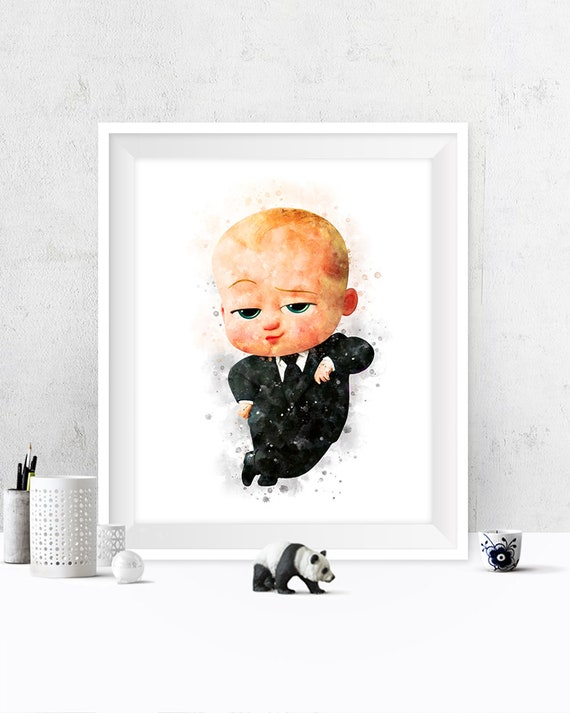 The Boss Baby Print Watercolor Boss Baby Poster Artwork Boss Baby Movie Kids Art Print Boss Baby Birthday Party Gift Digital Download