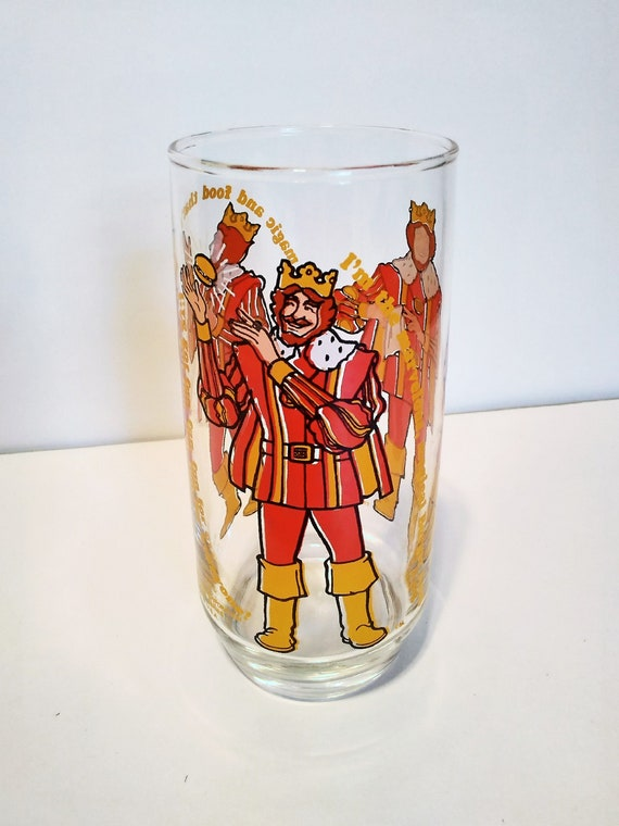 VINTAGE BURGER KING CHARACTER COLLECTOR SERIES 1979 DRINKING GLASS  FAST FOOD