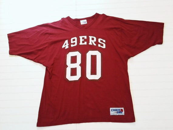 low priced 32682 44502 Chalk Line Jerry Rice 49ers jersey
