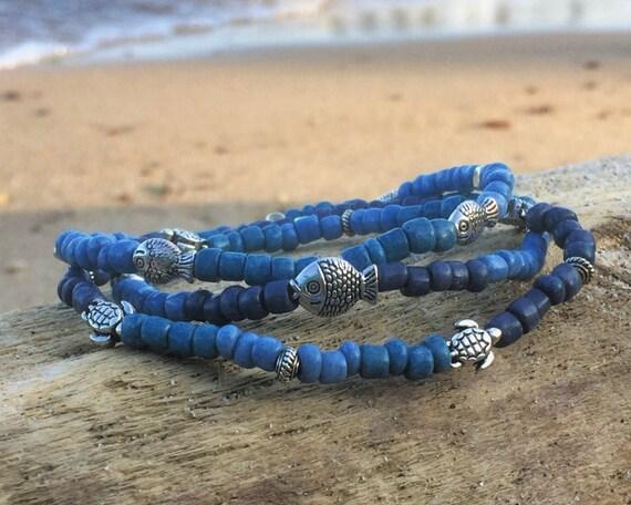 Blue Beachy Strechy Bracelet
