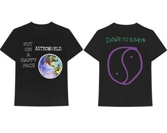 5f4953b49ff2 Travis Scott T-shirt Astroworld T-Shirt Travis Scott Astroworld Tour Merch  Front & Back Full Size