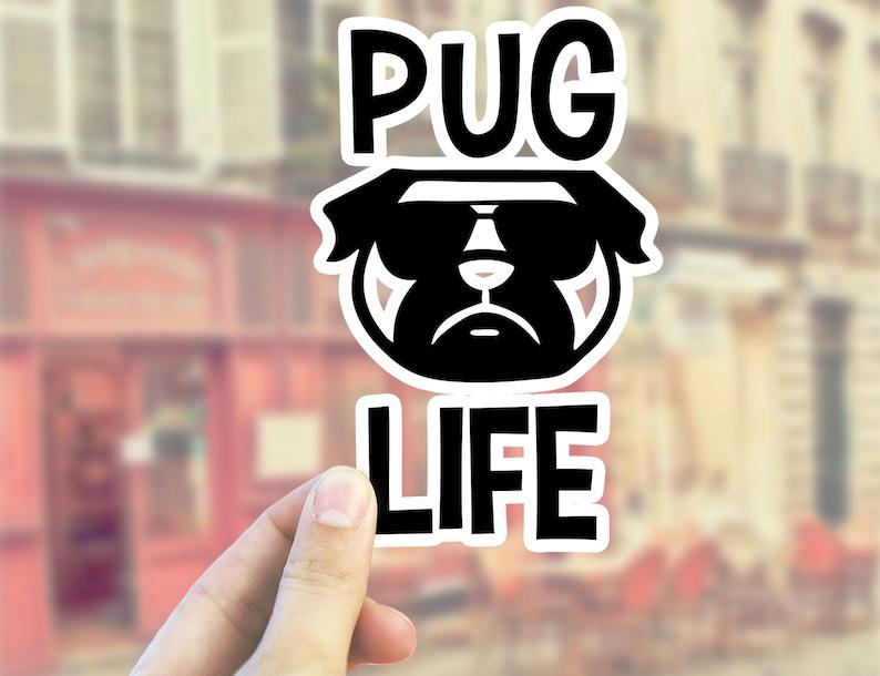 Laptop Sticker Planner Sticker Vinyl Sticker Pug Laptop Decal Puppy Sticker Waterbottle Sticker Puppy Vinyl Pug Life Pug Sticker