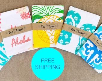 Hawaiian Tropical Dish - Tea Kitchen Towels