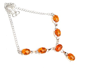 a0a1ea566cfe Fantastic Look Baltic Amber Gemstone 925 Sterling Silver Plated Jewelry  Necklaces Size 18   Handmade Gemstone Jewelry Necklaces
