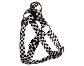 Racing Checkered Flag Dog Harness Vest