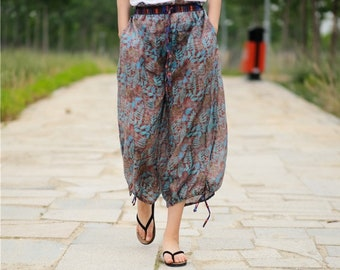 bcef46a3a8e61 Summer Pants for Women,Wide Leg Pants,Elastic Waist Pants