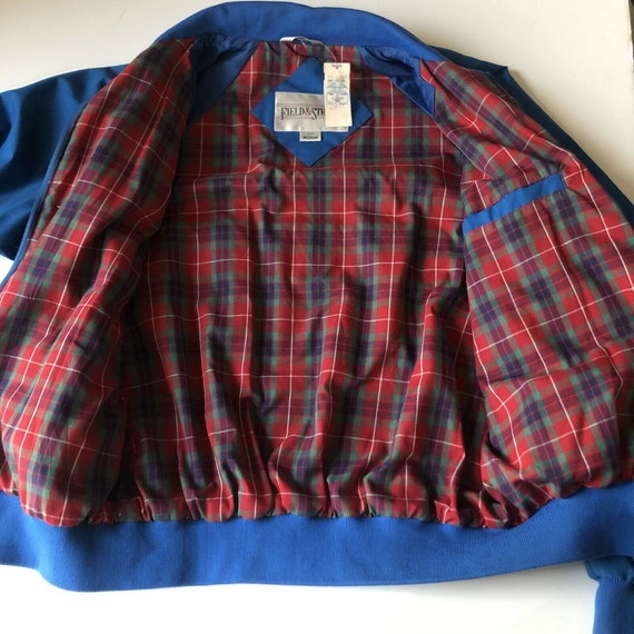Field And Stream Vintage Bomber Jacket Royal Blue… - image 4