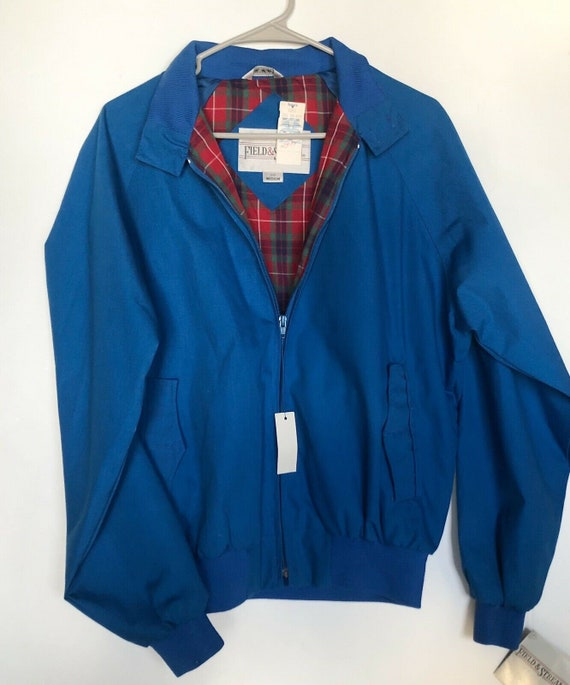 Field And Stream Vintage Bomber Jacket Royal Blue… - image 1