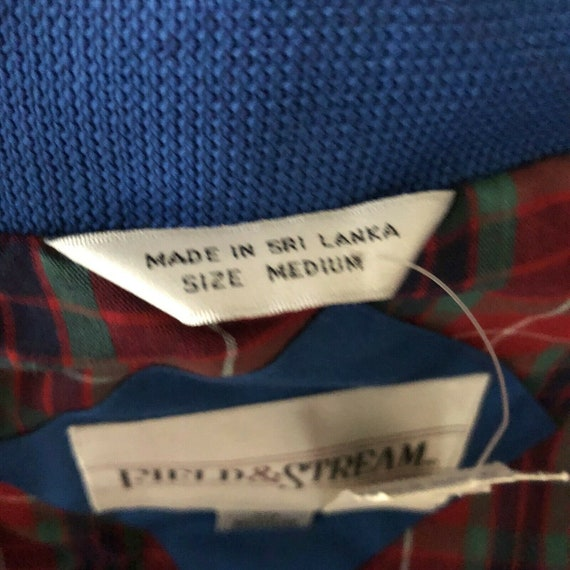 Field And Stream Vintage Bomber Jacket Royal Blue… - image 5