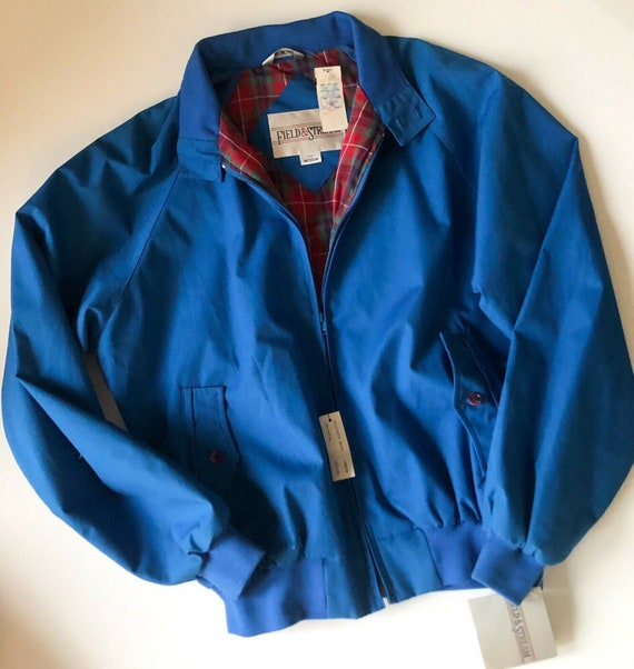 Field And Stream Vintage Bomber Jacket Royal Blue… - image 2