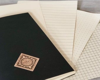 Refills for Standard Size Pocket Journals, Refills for Personalized Leather Notebooks, Engraved Journal Refills