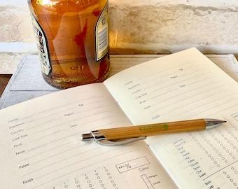 Printable Whiskey Tasting Log, Bookbinding Kit, Adult Craft Kit, Digital Download Whiskey Journal, Whiskey Tasting Party Printable Journal