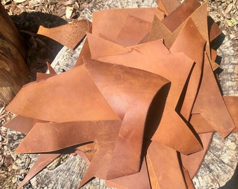 Leather Offcuts, Leather Remnants, Top Grain New Zealand Leather, Leather Scraps