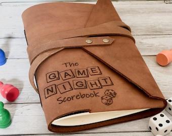 Personalised Board Game Scorebook, Leather Gaming Notebook, Board Game Accessories, Custom Board Game Journal, Personalized Board Game Gifts