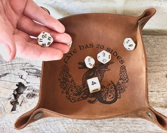 Personalized Gift DnD Dice Tray, Dungeons and Dragons Gifts, DnD Accessories, RPG Accessories, Nerdy Gifts