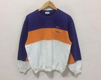 c029c3be Lacoste Embroided Pocket Logo Vintage Sweatshirt pullover Multicolor  Lacoste vintage colorway lacoste stripe