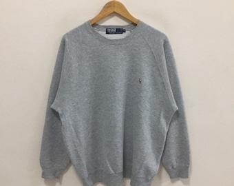 655cf149a Vintage 90s!! Polo Ralph Lauren vintage sweatshirt Embroided Logo Size M