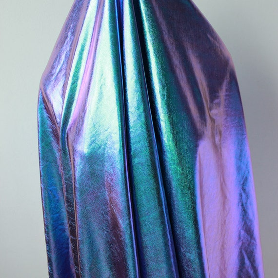 Iridescent Spandex Fabric stretch silver bronzing fabric for DIY stage cosplay costume 150cm wide sold by Yard