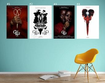 "Us Movie Poster Jordan Peele Lupita Nyong/'o Horror FIlm Print 32x48 27x40 24x36/"""