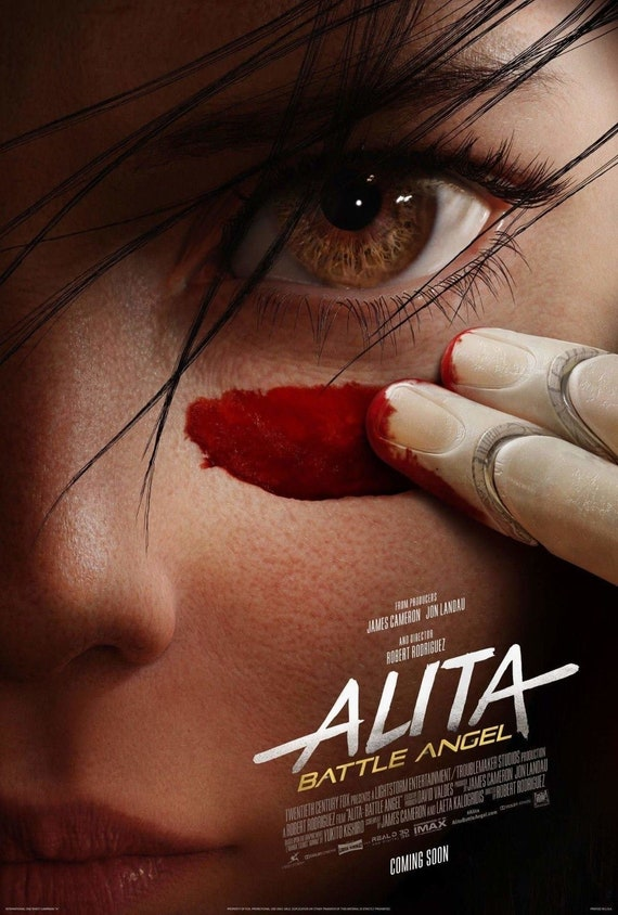 "Battle Angel Movie Poster Rosa Salazar 2019 Art Print 14×21 27×40/"" 32×48/"" Alita"