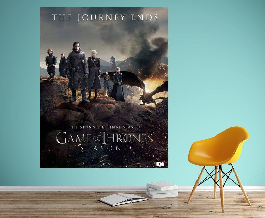 Game of Thrones Season 8 Movie Art Silk Canvas Poster Print 24x36inch Home Decor