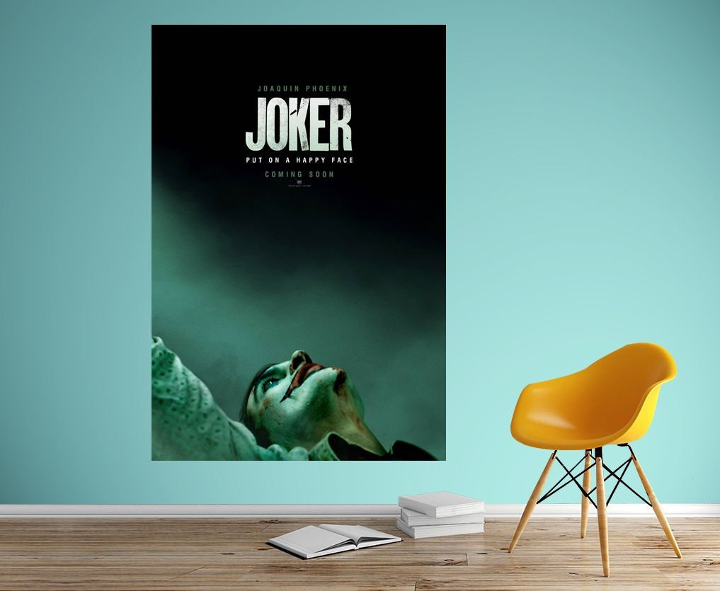 Joker Movie Joaquin Phoenix Art Silk Canvas Poster Print 32x48 inch Home Decor