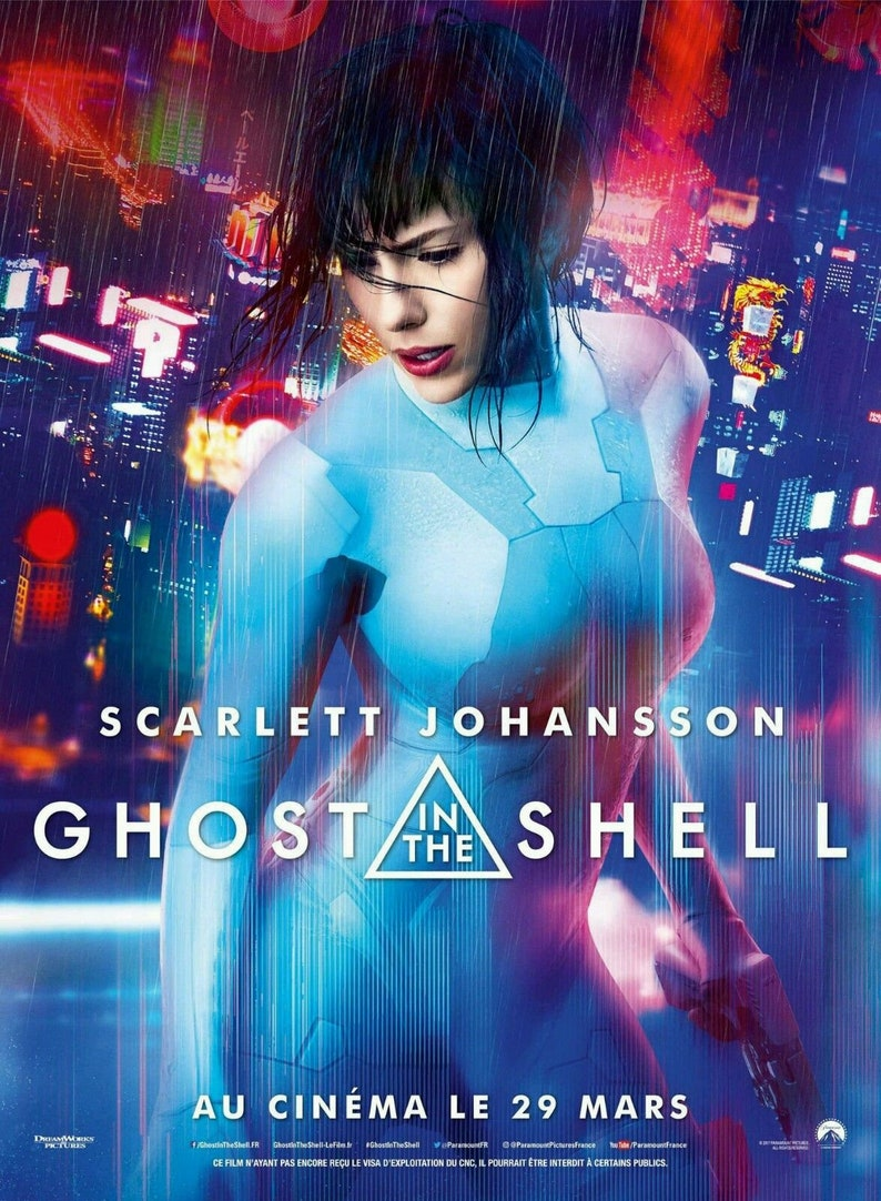 Ghost In The Shell Movie Poster 24x36