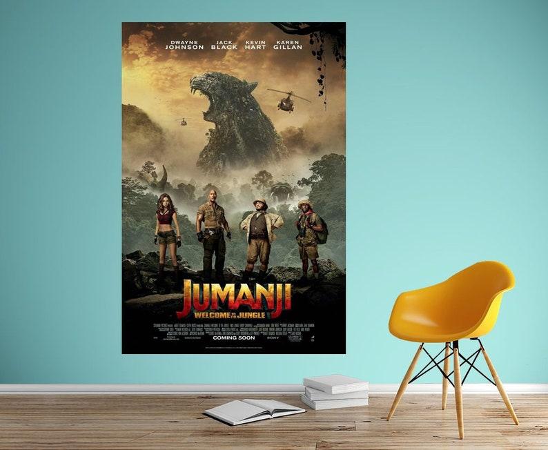 Jumanji Welcome to the Jungle Movie Poster Art Silk Print Home Decor 13x20  - 32x48 inch
