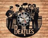 The Beatles Decor The Beatles Fan Art Decor Vinyl record wall clock Beatles art John Lennon Paul McCartney Ringo Starr and George Harrison