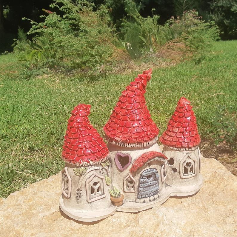 ceramic fairy house