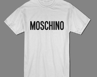 1fec5b350 Moschino T shirt, High Fashion designer brand t shirt, Trendy graphic  street style t shirt